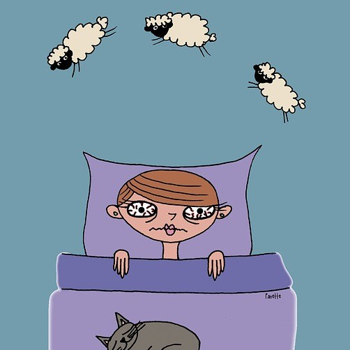 iemand die niet kan slapen