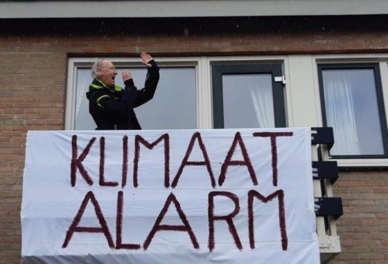 Ignas Heitkönig tijdens het klimaatalarm eerder deze maand.